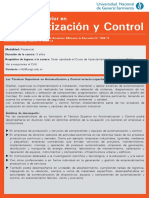 UNGS Tecnicatura Superior en Automatización y Control