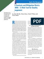 Risk Analysis & Mitigation Matrix