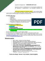 Guia Para Investigacion de MEDIDORES de FLUJO 2do Semestre 2016
