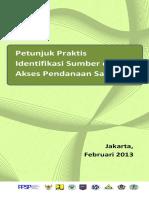 7.Petunjuk Praktis Identifikasi Sumber Akses Pendanaan Sanitasi(2013)