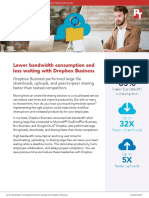 Lower bandwidth consumption and less waiting with Dropbox Business