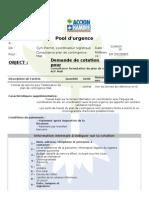 TdR Consultant Plan de Contingence Mali