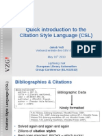 Short introduction into CSL