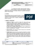 Procedimiento Para Reporte e Investigación de Accidentes e Incidentes de Trabajo y Enfermedad Laboral v1