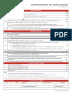 Recaudos Apertura de Cuenta de Ahorros - Bancrecer - Notilgía