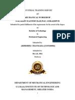 Mechanical Summer Training Report NE Railway Gorakhpur