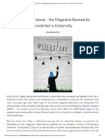 Read Widerstand – the Magazine Banned by Pondicherry University – Indian Cultural Forum