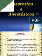 Anestesias e Anestesicos