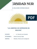 La Libertad de Expresion en Bolivia
