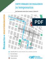 Desvíos TUP calle Sarmiento