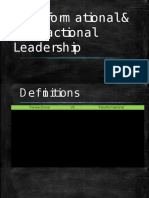 Transformational & Transactional Leadership