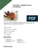 Spaghetti Alla Tarantina – Spaghetti Con Le Cozze e Salsa Di Pomodoro