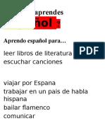 Por Qué Aprendes Español