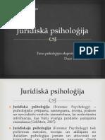 Juridiskā psiholoģija