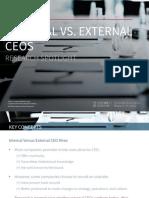 Internal vs. External CEOs - Research Spotlight