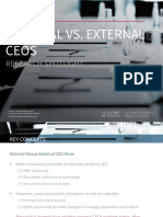 Internal vs. External CEOs - Research Spotlight