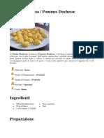 Patate Duchessa - Pommes Duchesse