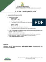 Certidão de Uso e Ocupação Do Solo