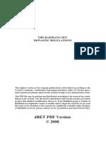 Bai Zhang Regulations