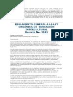 R-LOEI - Reglamento (a Enero de 2016)
