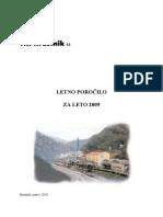 Letno porocilo družbe TKI Hrastnik, d.d. 2009 z revizijskim mnenjem
