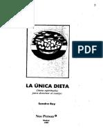 Sondra Ray - La Unica Dieta