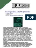 La Depopolazione Per Editto Governativo