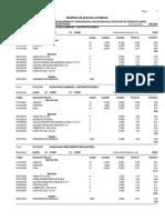 Análisis de Costos - Inst. Eléctricas