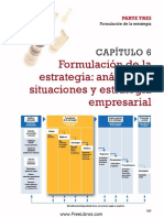 Capitulo 6. Formulacion de La Estrategia Analisis de Situaciones y Estrategia Empresaria