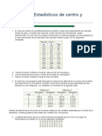 Ejercicios de Medidas de Tendencia y Dispersion