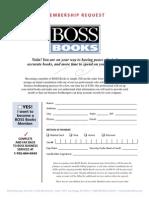 BossOffice Books Membership Request