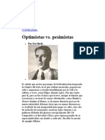 Optimistas vs Pesimistas- Noé Jitrik