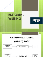 Editorial Writing Campus Journ Ppt