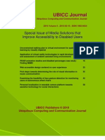 Special Issue of Media Solutions That Improve Accessibility to Disabled Users