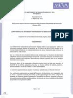 Resolución 001 Nueva Estructura Organizacional