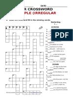 Atg Crossword Pastsimple