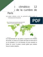 Encuentro Del Clima París 2015