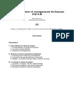 Textes Littéraires Et Enseignement Du Français -1