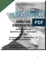 Fichas Farmacologicas EMERGENCIA