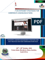5 Day Intranet for Corporate Communications..