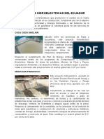 Centrales Hidroelectricas Del Ecuador