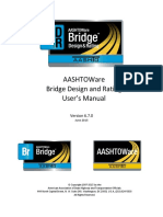 AASHTOWare BrDR 6.7 Users Manual