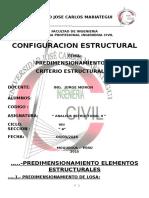Predimensionamiento de Elementos Estructurales