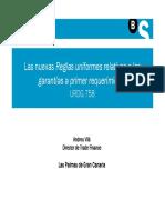 Las Nuevas Reglas Uniformes Relativas a Las Garantias a Primer Requerimiento URDG758