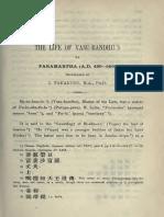 Life of Vasubandhu.pdf