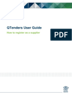 QTenders User Guide - How to Register as a Supplier