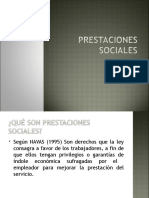 PRESTACIONES SOCIALES