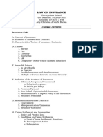 Insurance Law-course Outline