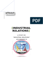 A Study on Industrial Relation
