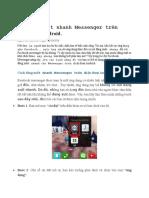 Cách Đăng Xuất Nhanh Messenger Trên Điện Thoại Android.